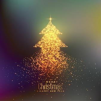 Абстрактная рождественская елка с фоном частиц