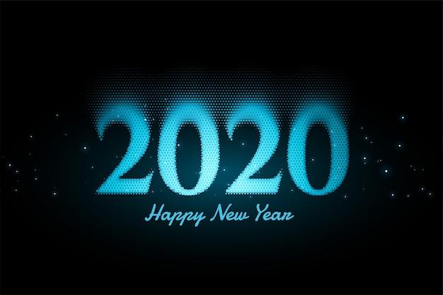 輝く青い新年の背景