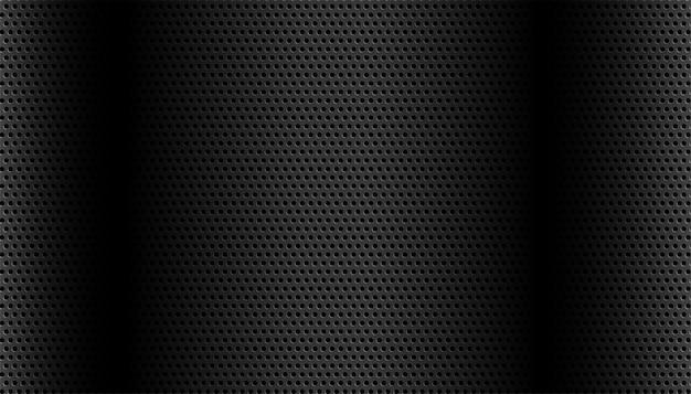詳細な円形メッシュのブラックメタリック