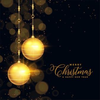 Красивый черный и золотой новогодний фон