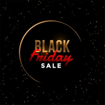 Стильная черная пятница золотая распродажа баннер