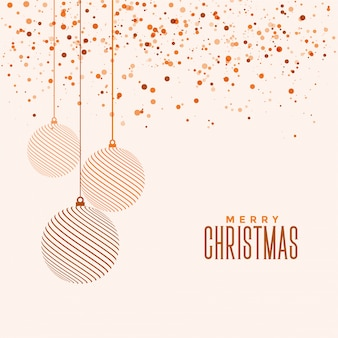 美しいエレガントなメリークリスマスフェスティバルのグリーティングカード