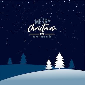 Счастливого рождества ночная сцена с деревом