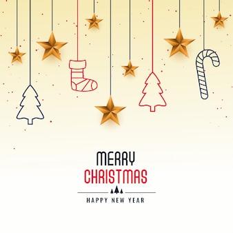 メリークリスマスフェスティバルカード挨拶背景