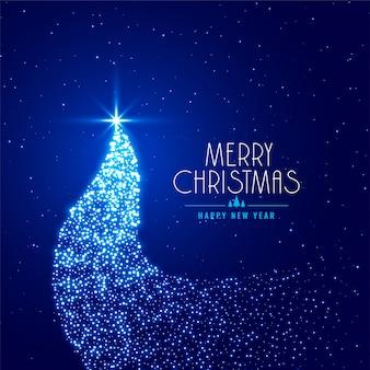 輝きで作られた創造的なクリスマスツリー
