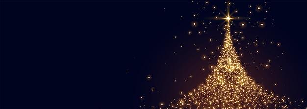 輝きで作られた輝くクリスマスツリー