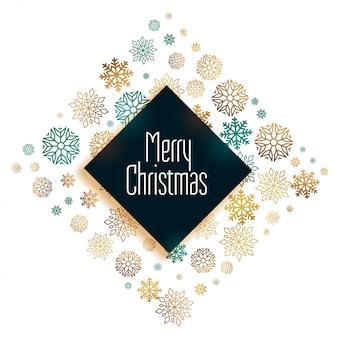 メリークリスマスの美しい祭りカードデザインカード