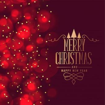 Прекрасный веселый рождественский фестиваль приветствие дизайн карты