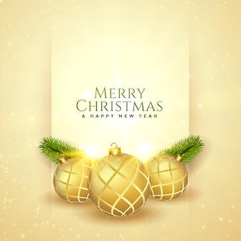 メリークリスマスの美しい祭グリーティングデザインカード