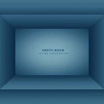 青い色のきれいな空の部屋