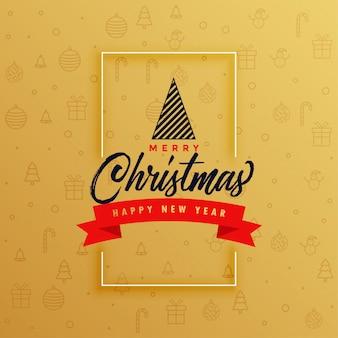 エレガントなメリークリスマスグリーティングカードデザイン
