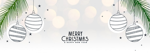 メリークリスマスと新年あけましておめでとうございますバナー
