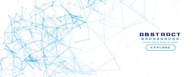 抽象的なネットワークメッシュ図と白い旗の背景