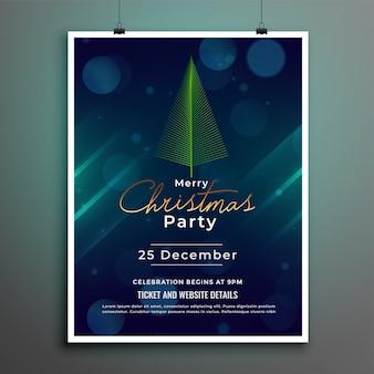Счастливого рождества фестиваль флаер плакат дизайн шаблона