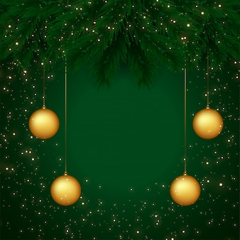 メリークリスマスのグリーティングカードの背景