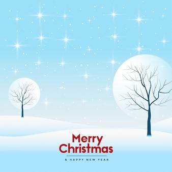 メリークリスマスと幸せな新年のグリーティングカード