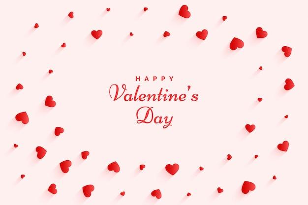 Элегантная открытка с сердечками на день святого валентина