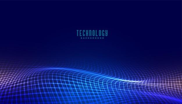 Цифровая сетка волновой технологии концепция фона дизайн