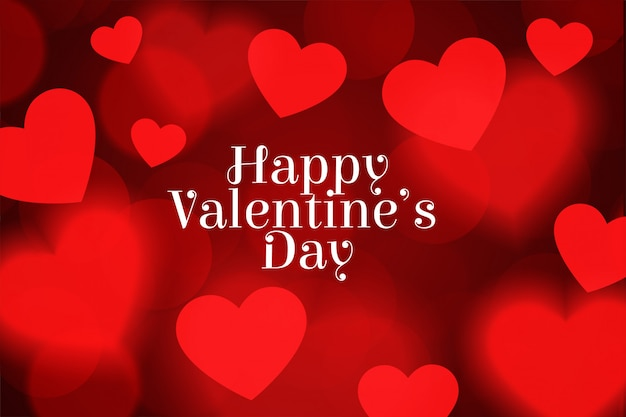 С днем святого валентина размыты с сердцем