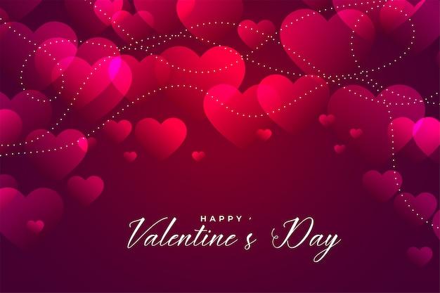Блестящий розовый день святого валентина дизайн сердца