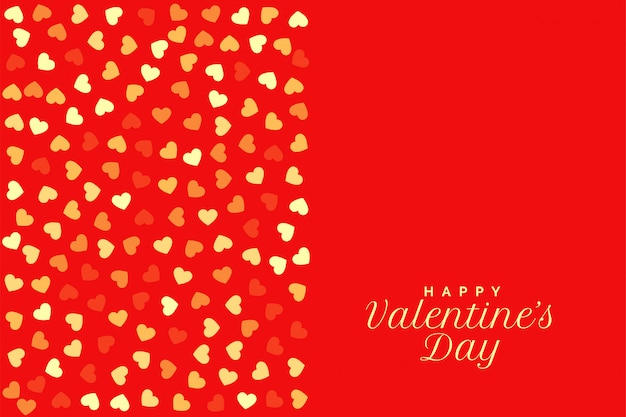 Красный день святого валентина с сердечками