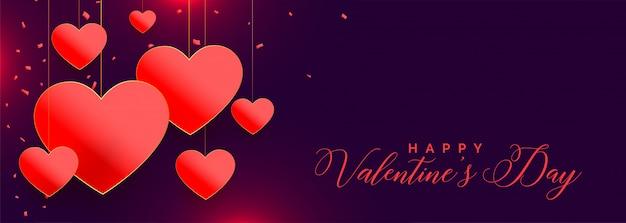 Прекрасные красные сердца на день святого валентина