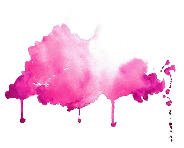 Абстрактный розовый ручной росписью акварель текстуру фона