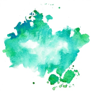 ターコイズとブルーの水彩テクスチャ染色の背景