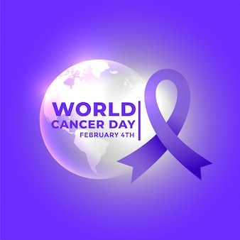 Плакат о всемирном дне рака