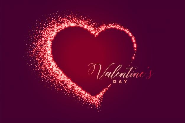 Сверкающее сердце счастливый день святого валентина фон