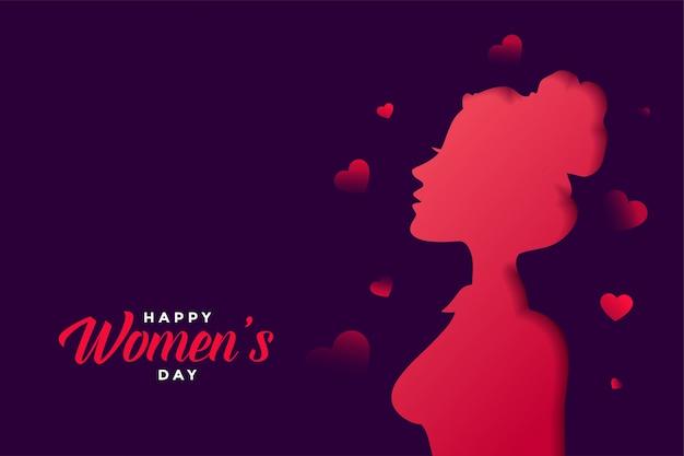 美しい色で幸せな女性の日グリーティングカード