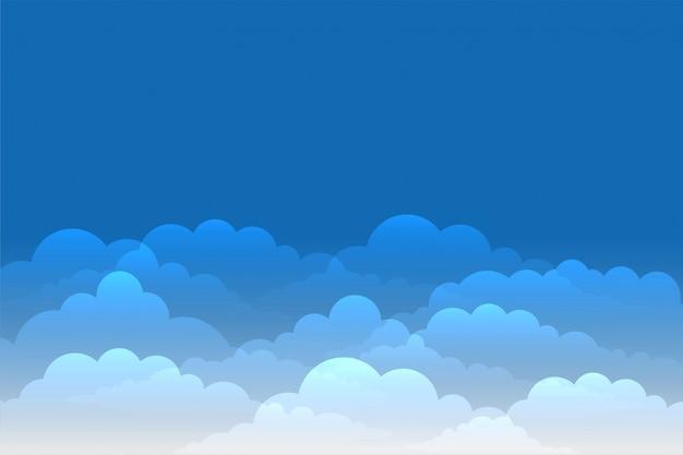 Голубое небо с блестящими облаками фон