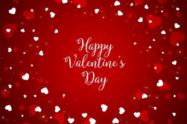 幸せなバレンタインデーのお祝い赤グリーティングカード
