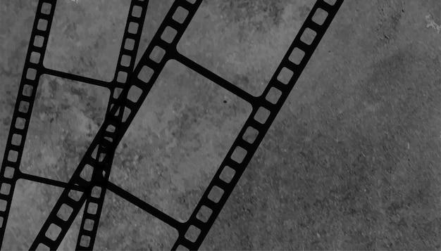 ヴィンテージの古いフィルムリールストリップの背景