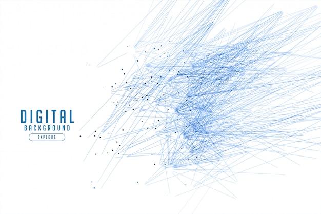 Белый фон с синими линиями абстракция