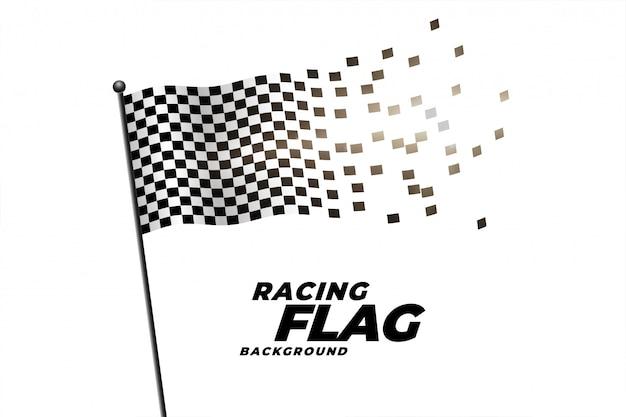 チェッカーフラッグ背景のレース