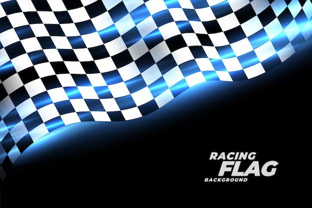 チェッカーフラッグスポーツの背景をレース