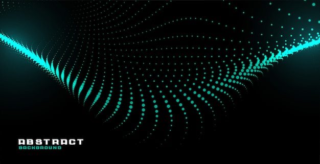 Светящиеся абстрактные частицы технологии волны фон
