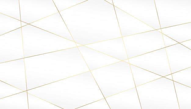 白い背景の上の抽象的な黄金の線