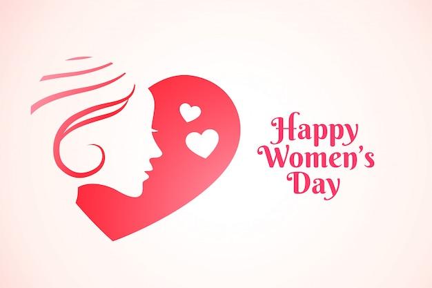 魅力的な幸せな女性の日の背景