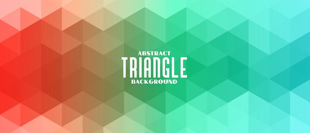 カラフルな三角形のバナーパターンの抽象的な背景