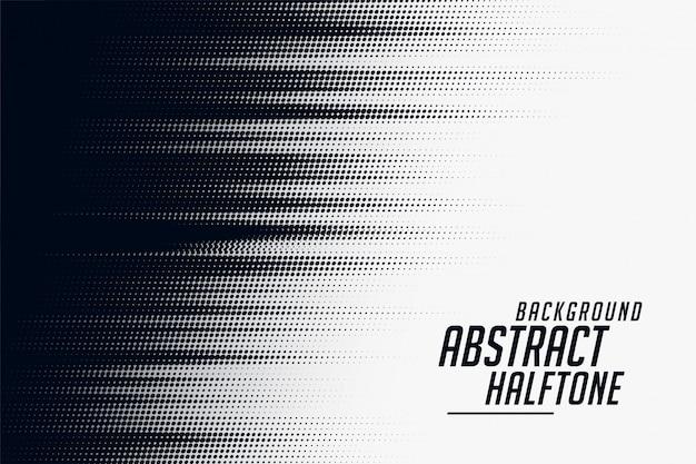 黒と白のハーフトーン速度パターン背景