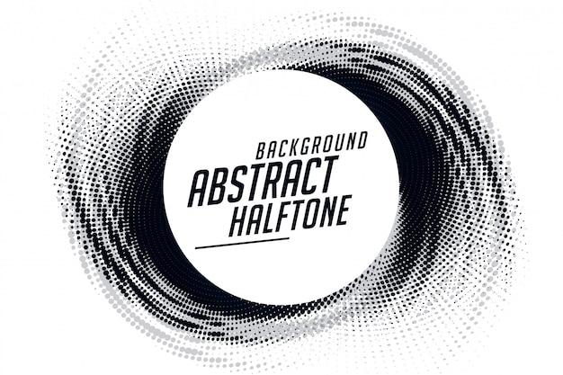 抽象的な渦巻グランジハーフトーンパターンフレームの背景
