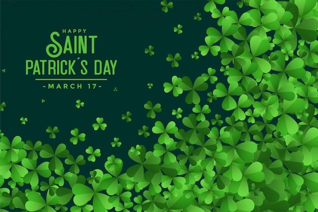 С днем святого патрика день зеленые листья фон