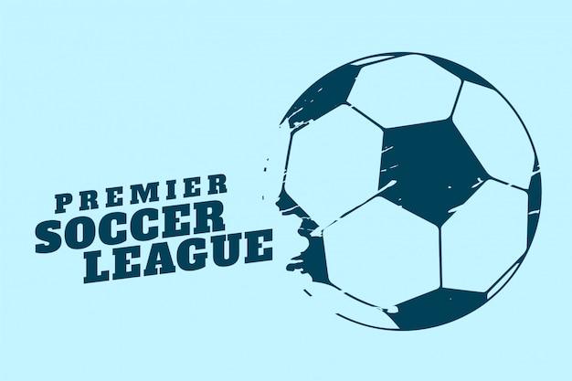 プレミアサッカーまたはフットボールトーナメントの背景