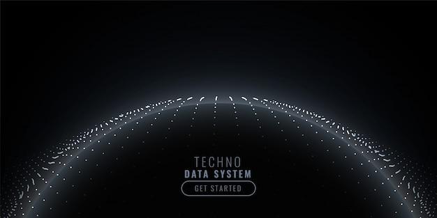 Темный технологический фон с частицей