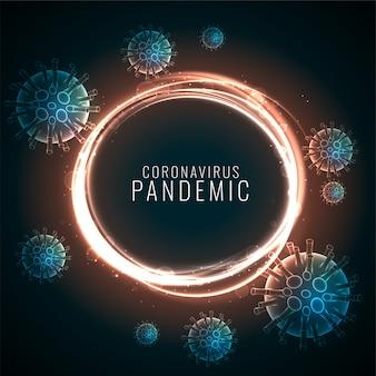 浮遊ウイルス細胞とコロナウイルスのパンデミック背景