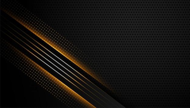輝くラインデザインと抽象的な暗い背景