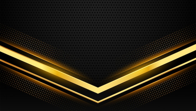 テキストスペースとスタイリッシュなブラックとゴールドの背景