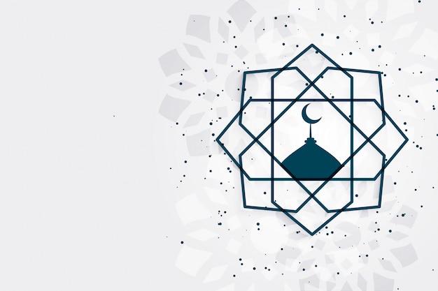 Ид мубарак исламский фестиваль приветствие с пространством для текста